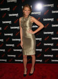 Blake Lively in tight golden dress at Entertainment Weekly and Vavoom annual upfront party in New York City
