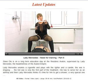 Domina-Bizarre: Lady Mercedes - Need for training - Part 5