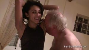 Femdom Shed: Phew my armpits stink